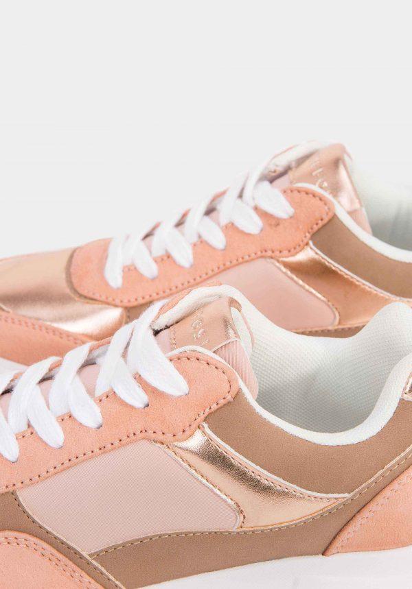 Sapatilhas rosa dourado para mulher da Tiffosi