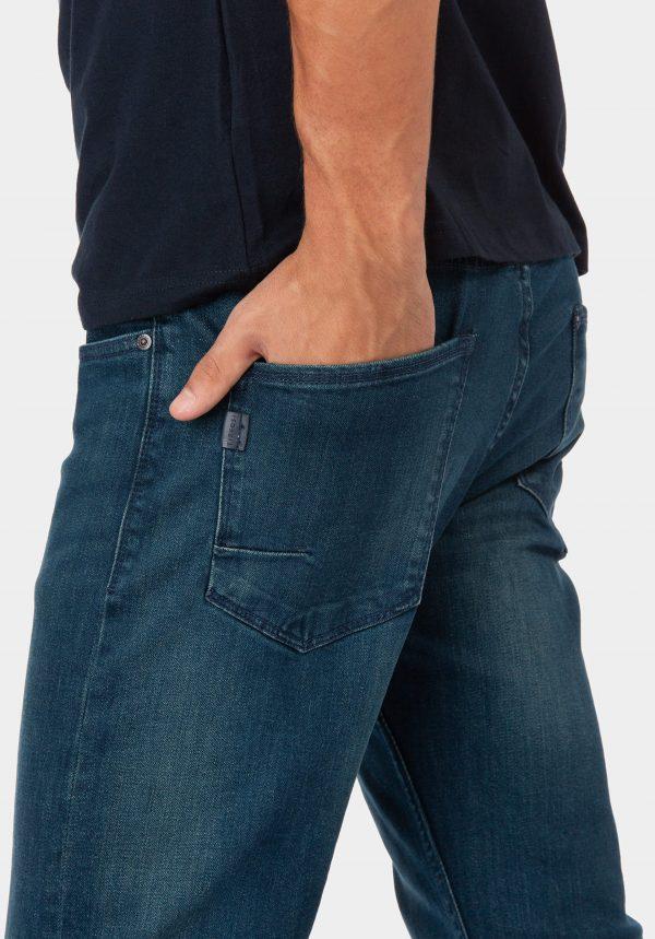 Calças de ganga tyler tapered para homem da Tiffosi