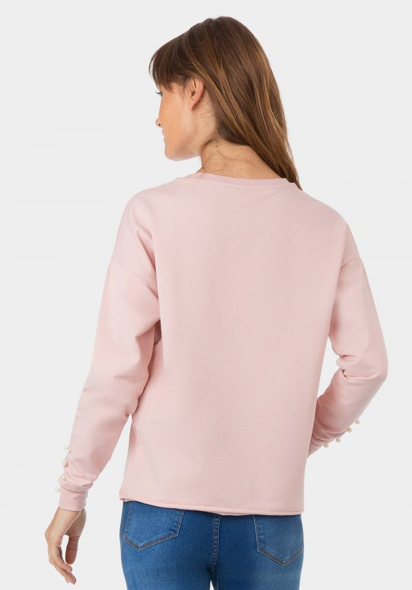 Camisola rosa com florido na frente para mulher da Tiffosi