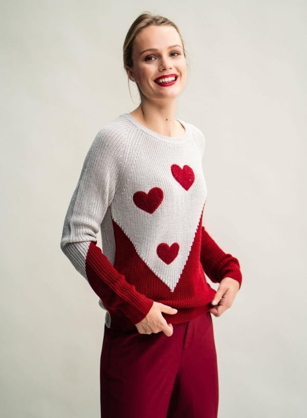 Camisola stowe vermelha para mulher da Rosalita Mc Gee