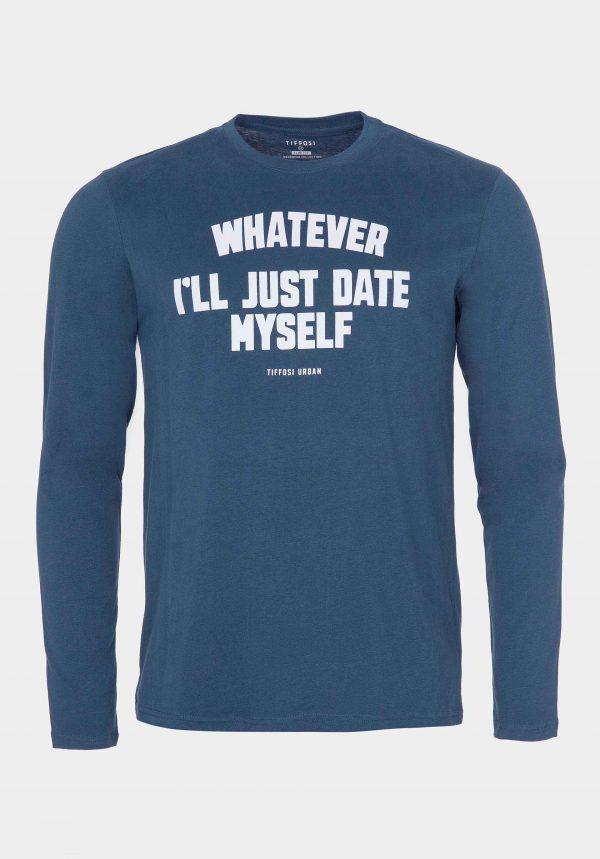 Sweatshirt azul intermédio para homem da Tiffosi