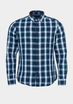 Camisa regular fit em xadrez para homem da Tiffosi