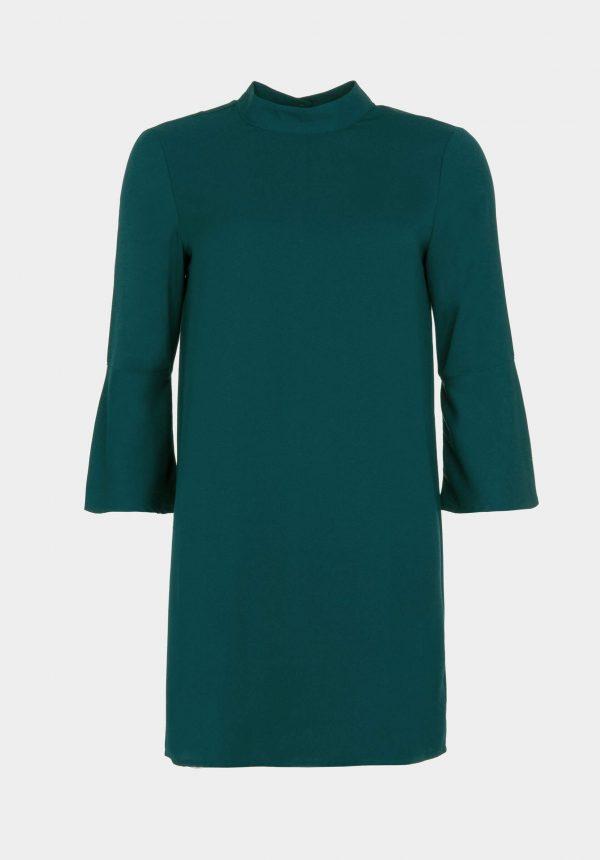 Vestido verde com manga 3/4 para mulher da Tiffosi