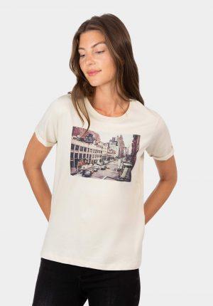 T-shirt com letras em relevo para mulher da Tiffosi