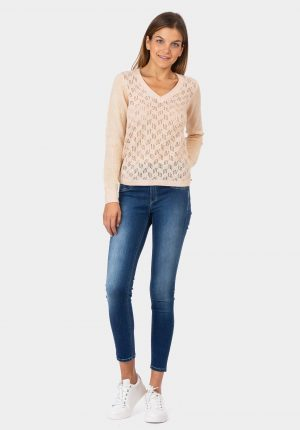 Camisola rosa com lurex para mulher da Tiffosi