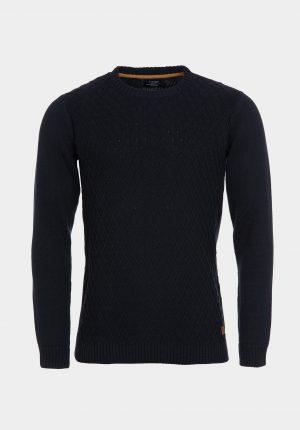 Camisola slim fit azul marinho escuro para homem da Tiffosi
