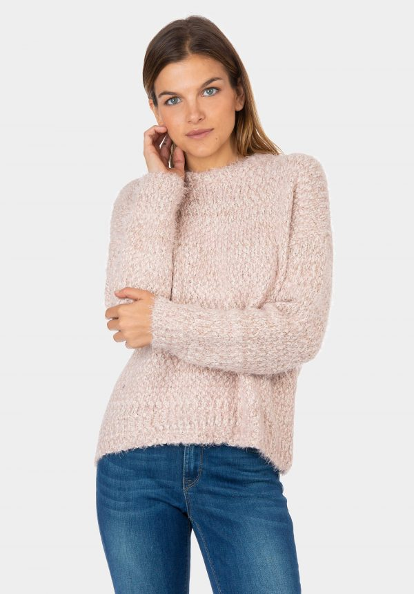 Camisola de malha rosa para mulher da Tiffosi