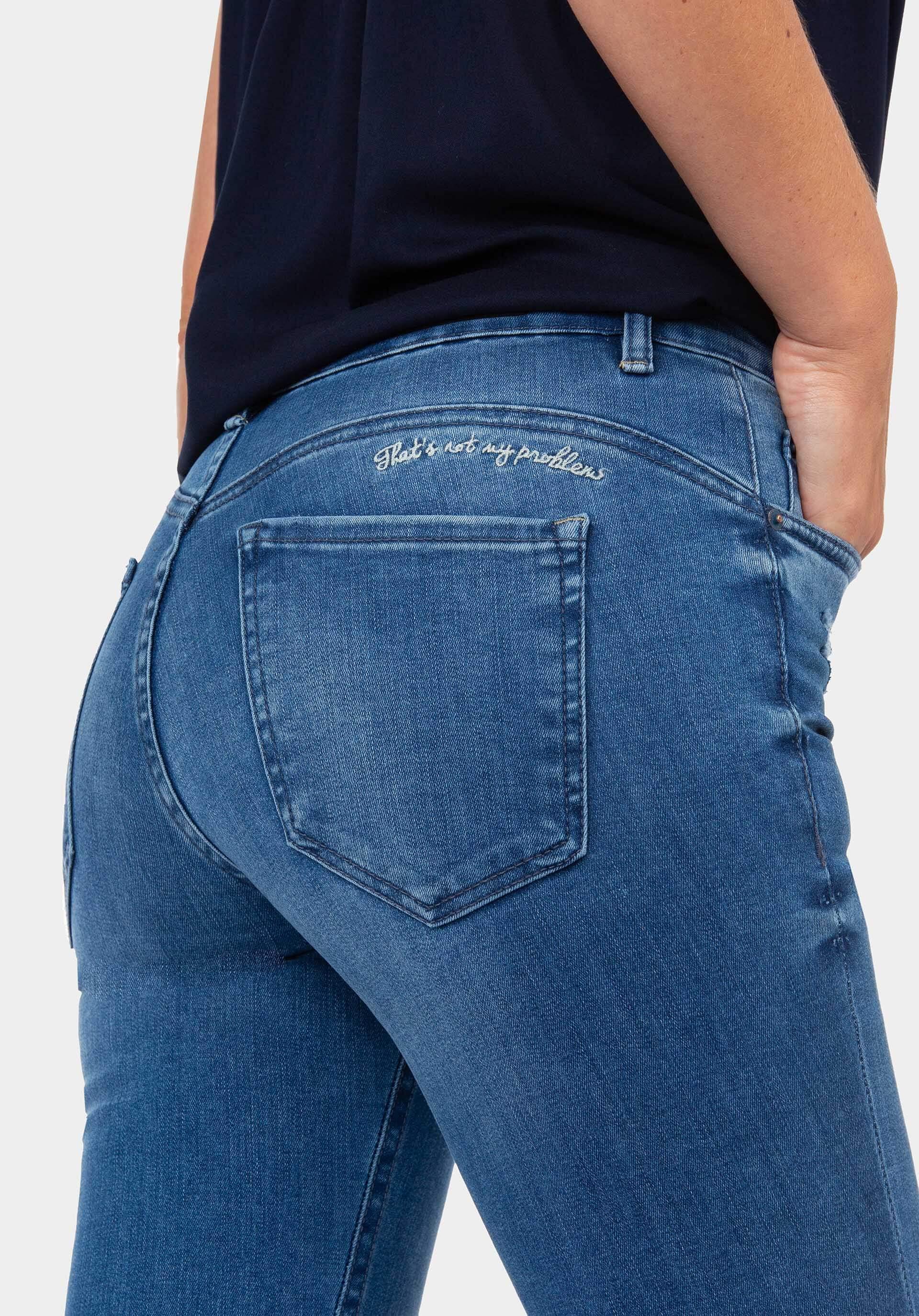 Calças de ganga body curve skinny Jutina