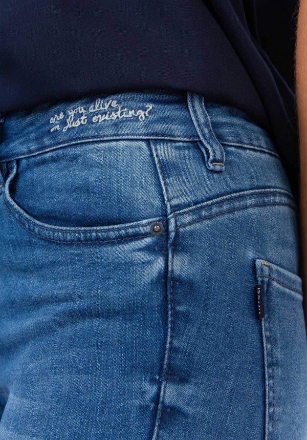 Calças de ganga body curve skinny para mulher da Tiffosi