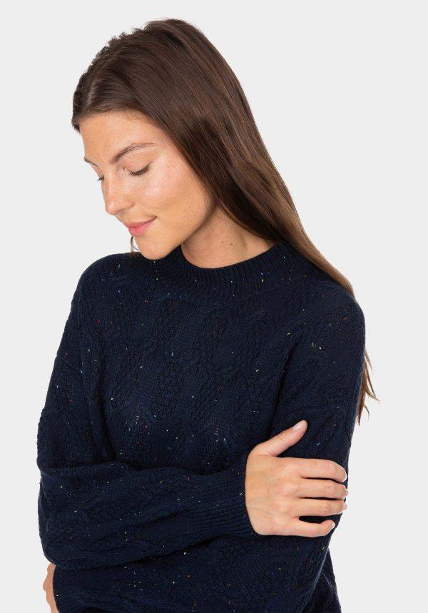 Camisola azul com gola para mulher da Tiffosi