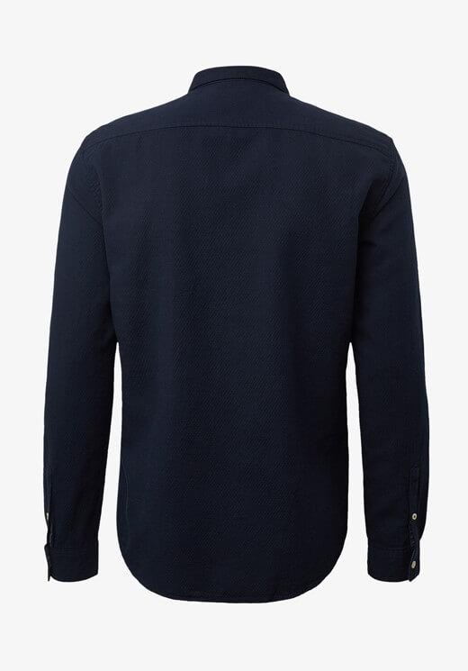 Camisa azul estruturada com bolso para homem da Tom Tailor