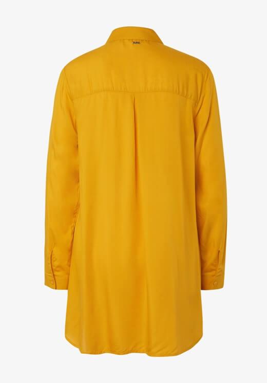 Blusa longa amarela com franzido para mulher da Tom Tailor