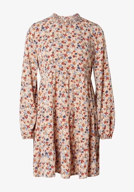 Vestido estampado de manga comprida da Tom Tailor