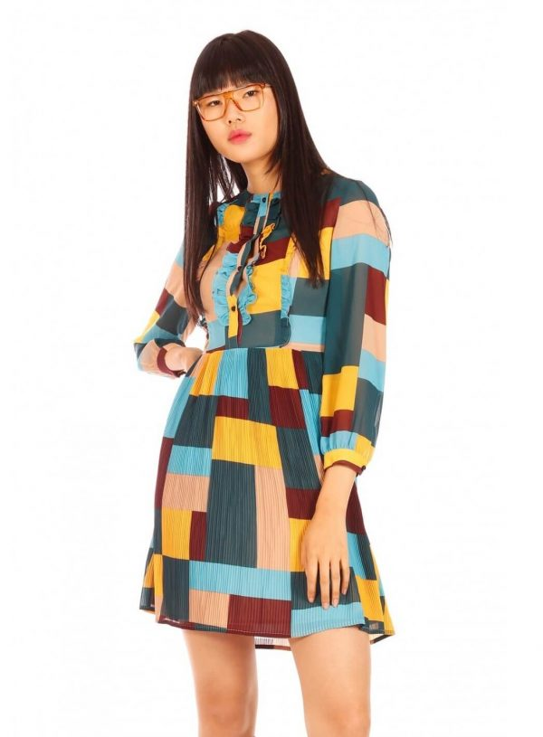 Vestido patchwork da Minueto