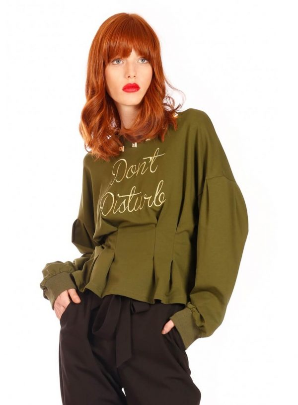 Sweatshirt don´t disturb para mulher da Minueto
