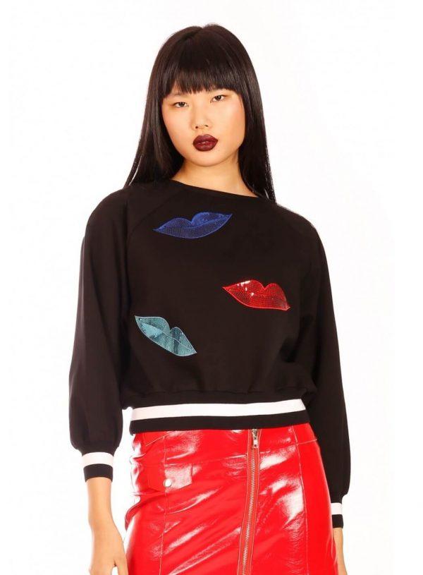Sweatshirt big lips para mulher da Minueto