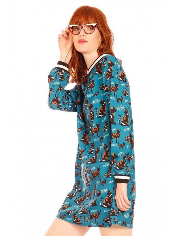 Vestido gatinhos para mulher da Minueto