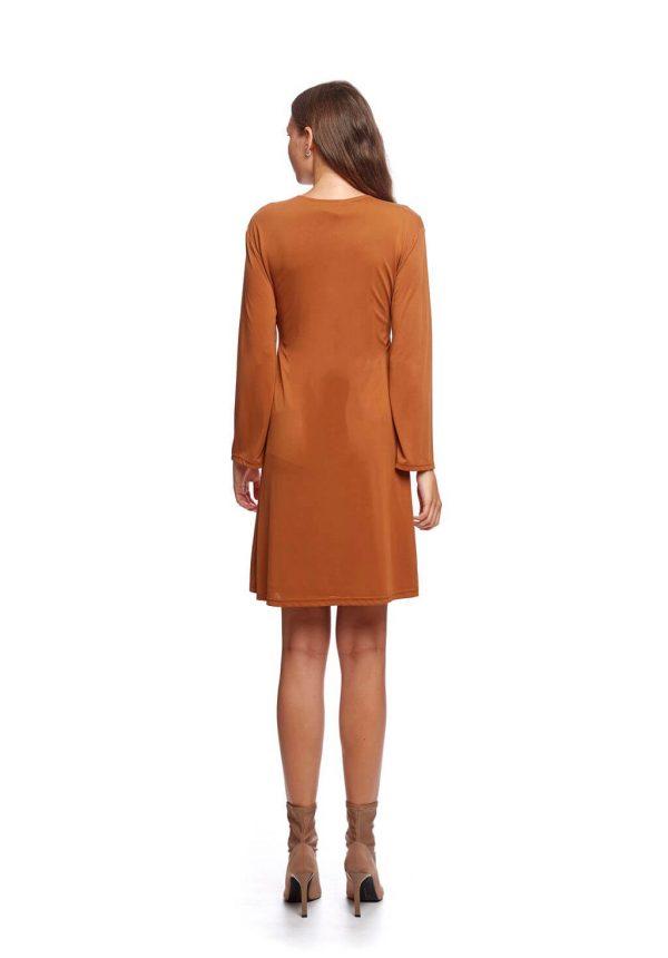 Vestido de malha com laço da Van-Dos