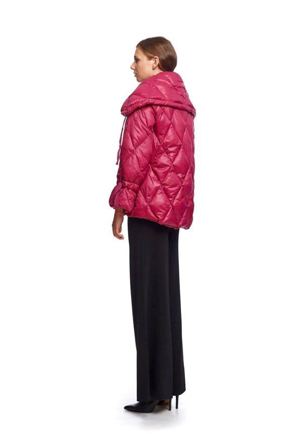Parka curta acolchoada cereja para mulher da Van-Dos