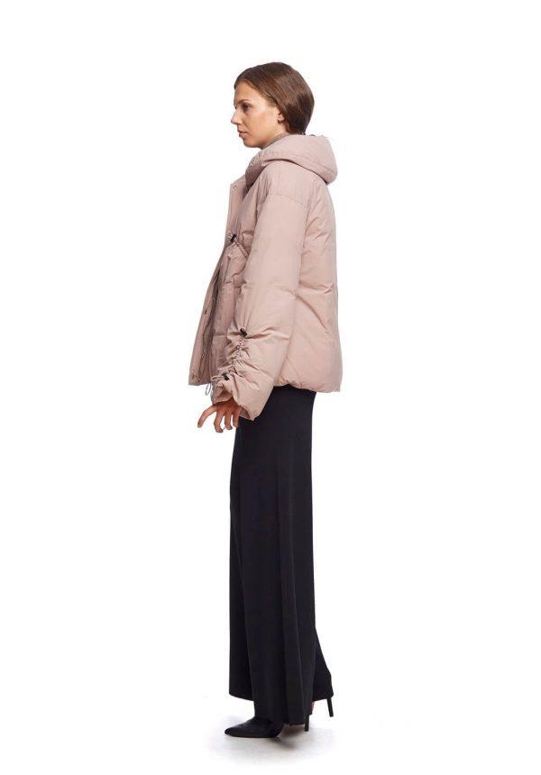 Parka curta rosa com puxadores para mulher da Van-Dos