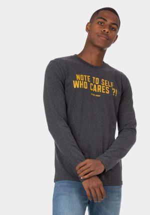 Sweatshirt cinza escuro com letras para homem da Tiffosi