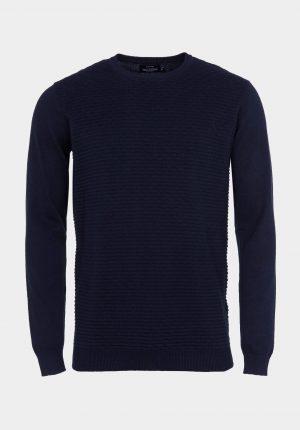 Camisola azul marino com decote redondo para homem da Tiffosi