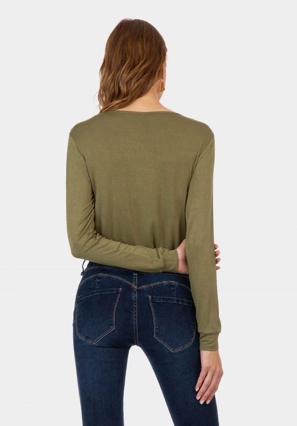 Sweatshirt fina verde para mulher da Tiffosi