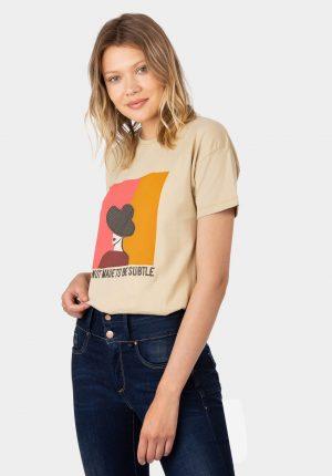 T-shirt mulher de chapéu da Tiffosi