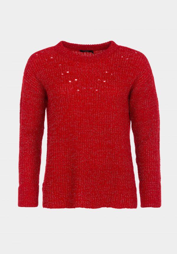 Camisola vermelha com lurex para mulher da Tiffosi