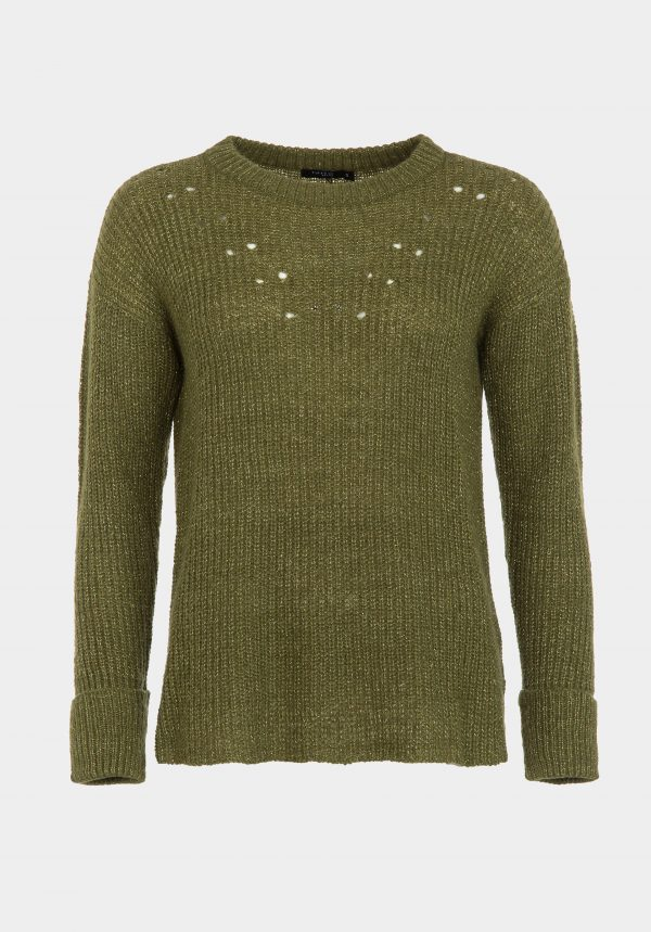 Camisola verde com lurex para mulher da Tiffosi