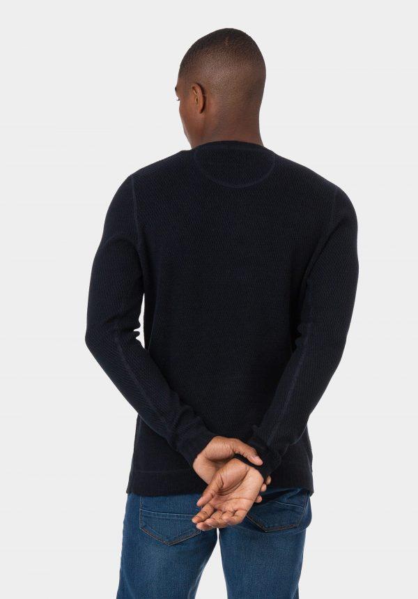 Camisola slim fit azul escuro para homem da Tiffosi