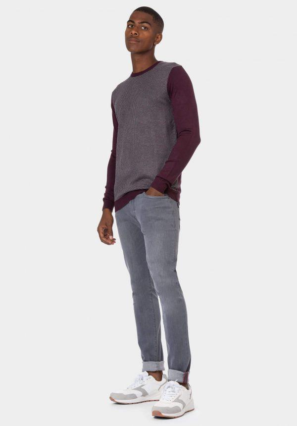 Camisola bordô com padrão para homem da Tiffosi