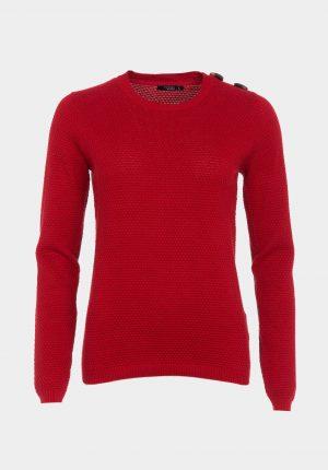 Camisola básica em vermelho para mulher da Tiffosi