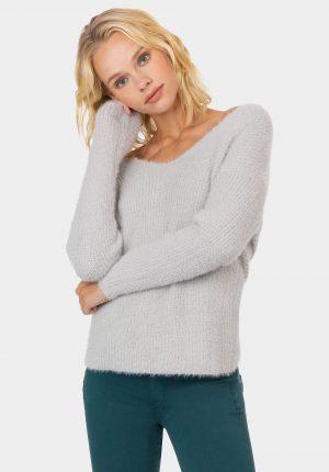 Camisola cinza com entrelaçado para mulher da Tiffosi