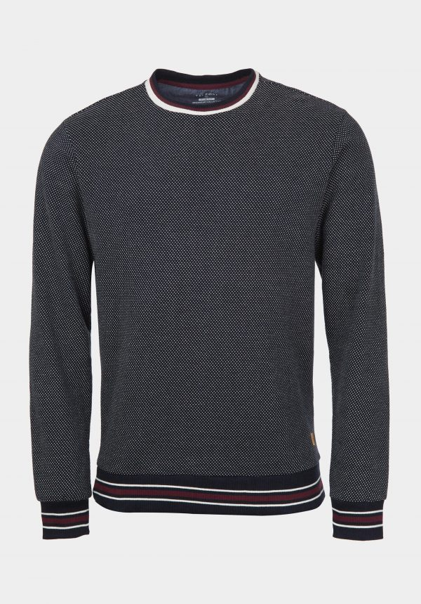 Sweatshirt slim fit azul marinho escuro para homem da Tiffosi