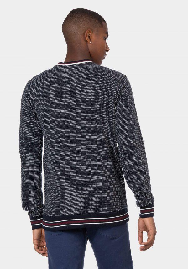 Sweatshirt slim fit azul marinho para homem da Tiffosi