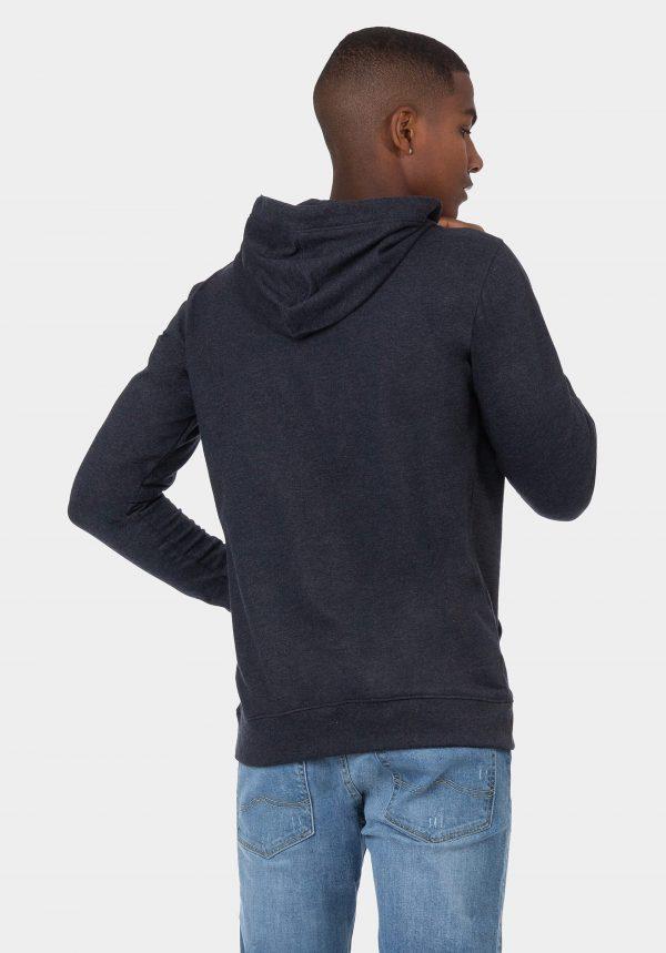 Hoodie slim fit azul para homem da Tiffosi