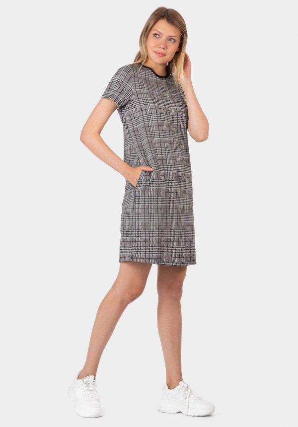 Vestido suede xadrez da Tiffosi