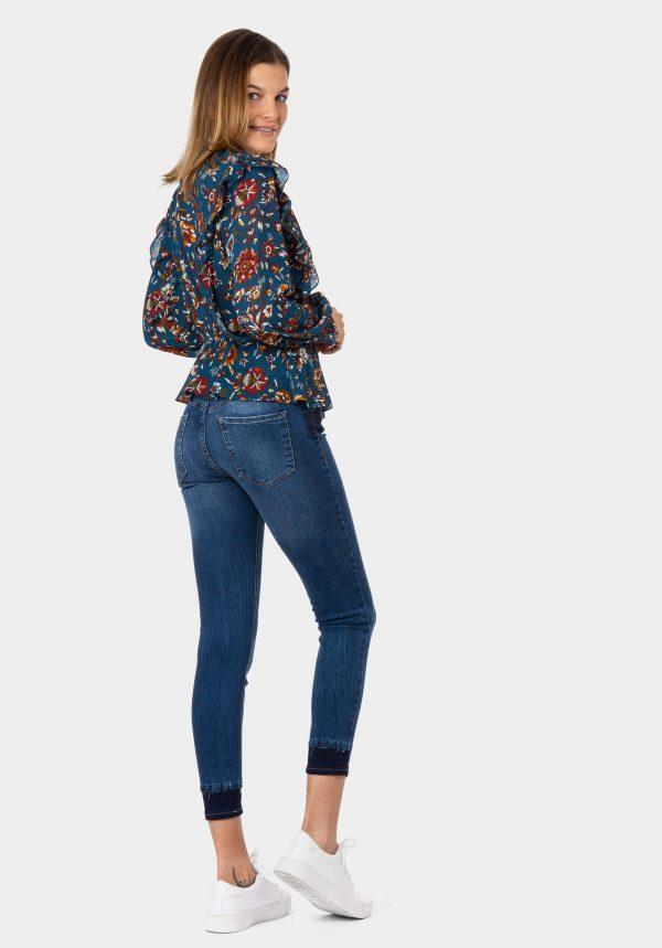 Calças de ganga body curve para mulher da Tiffosi