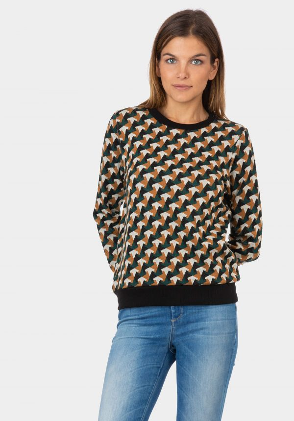 Camisola de malha com padrão para mulher da Tiffosi