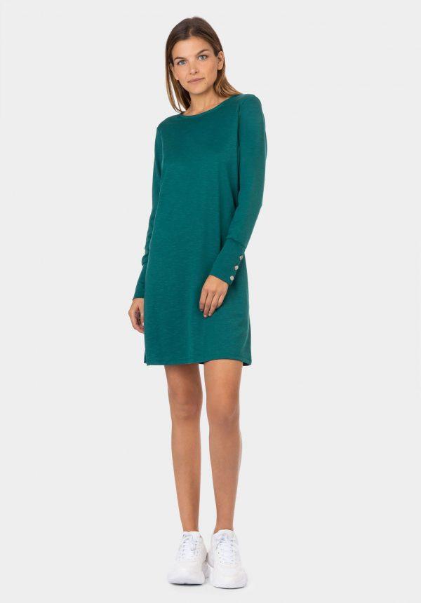 Vestido simples de malha verde da Tiffosi