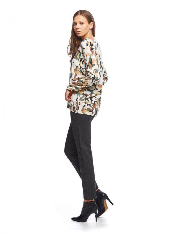 Camisola print camuflado para mulher da Md`m