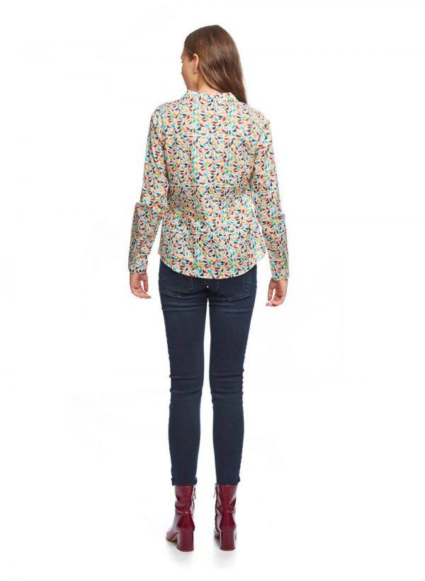 Camisa com print pássaros coloridos para mulher da Md`m