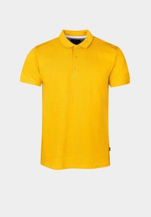 Polo básico amarelo para homem da Tiffosi
