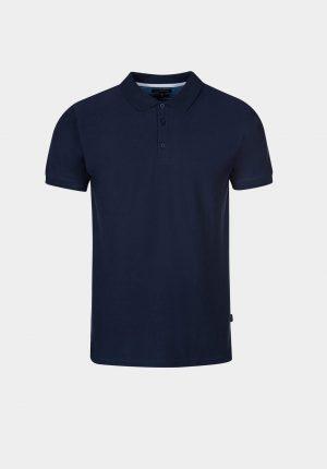 Polo básico azul para homem da Tiffosi