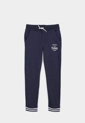 Calças azuis jogger c/ cordão para menino da Tiffosi