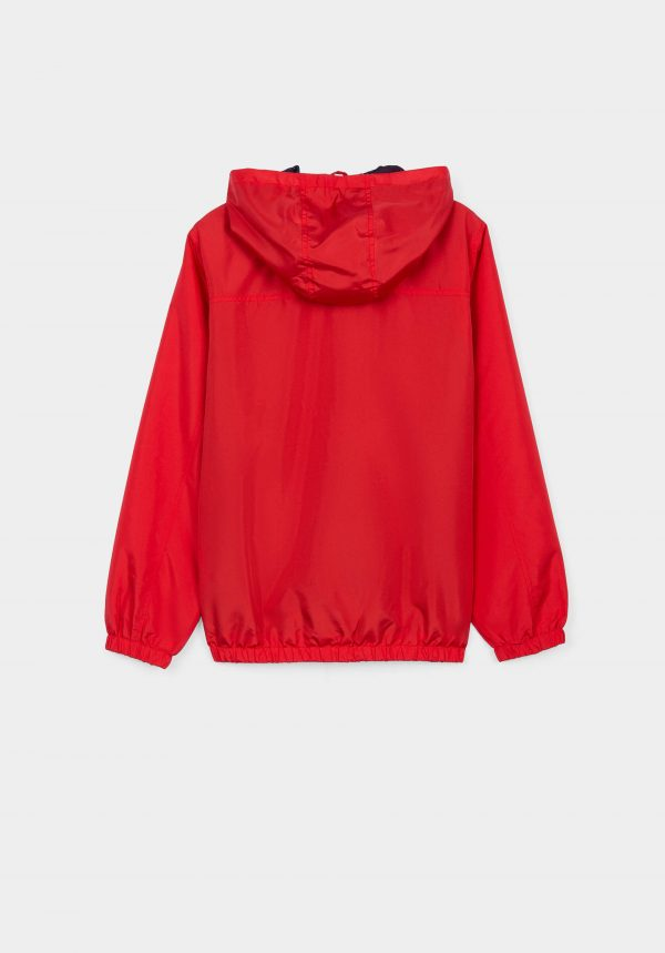 Casaco vermelho water resistant para menino da Tiffosi
