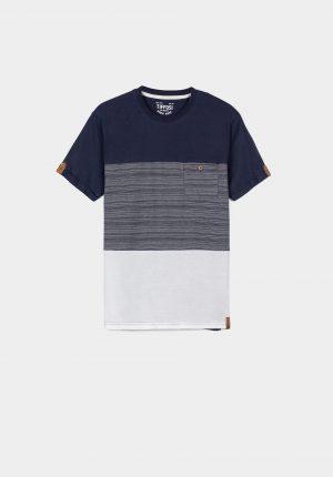 T-shirt tricolor para menino da Tiffosi