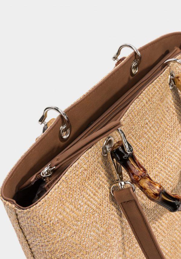 Carteira de mão com alças de cana para mulher da Tiffosi