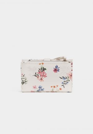Porta moedas com print floral para mulher da Tiffosi
